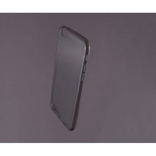 HUSA bumper iPhone 6 din gel siliconic TRANSPARENT fumuriu