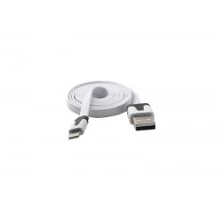 USB Cablu Flat compatibil cu iPHONE 5/6 Alb