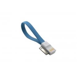 USB Cablu My-Magnet compatibil cu iPHONE 4 Albastru