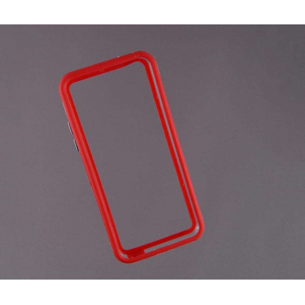 Bumper husa protectie iPhone 5C margine silicon ROSU 4
