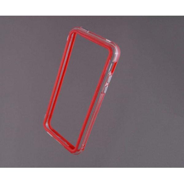 Bumper husa protectie iPhone 5C margine silicon ROSU 1