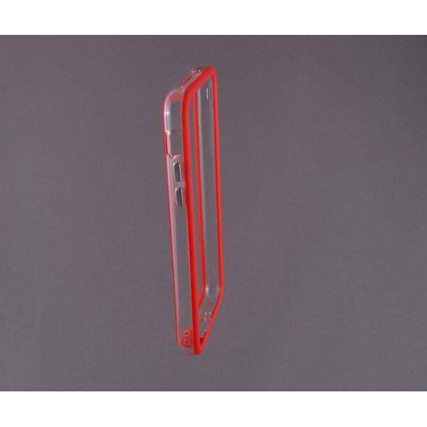 Bumper husa protectie iPhone 5C margine silicon ROSU 3