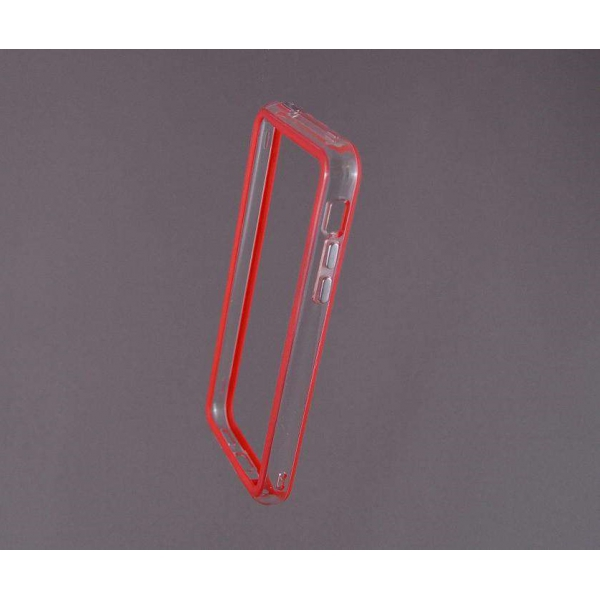 Bumper husa protectie iPhone 5C margine silicon ROSU 2