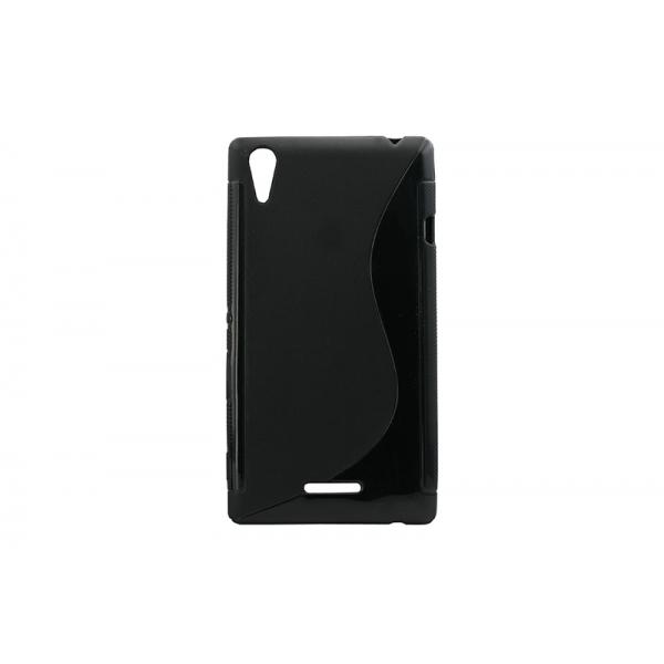 Husa Silicon Sony Xperia T3 Negru