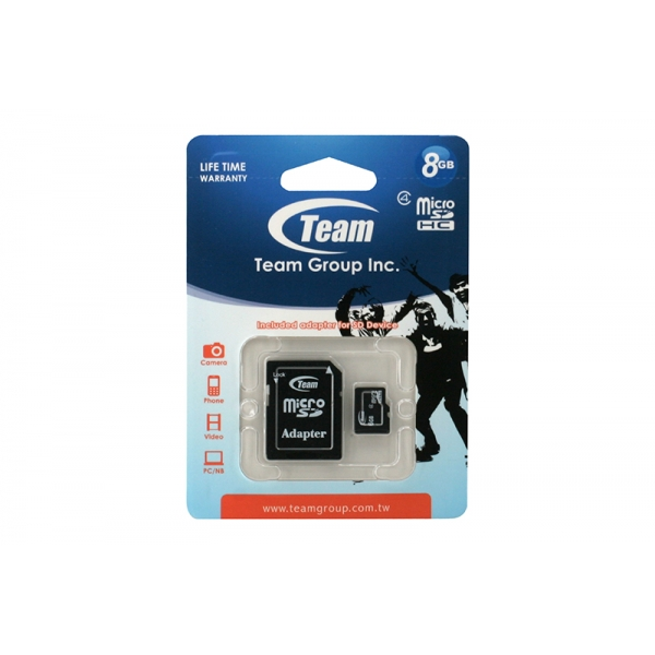 Card Team Micro SD Clasa4 08GB 0